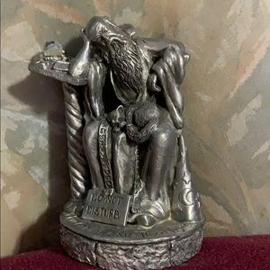 Pewter wizard figurine